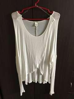 Longsleeves white top