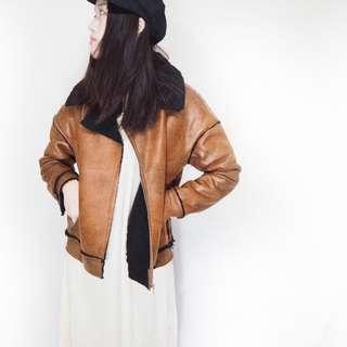 韓國單復古厚實外套