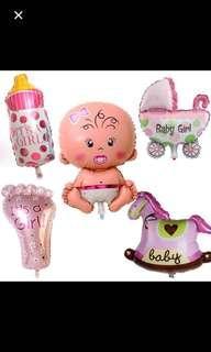 5 pieces baby boy / girl balloon set