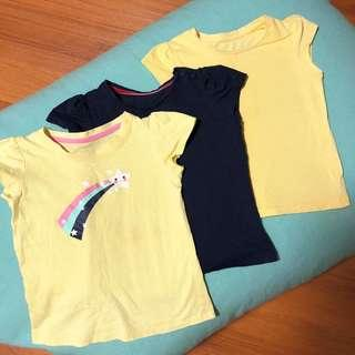 3pcs Girls T-shirts Mothercare