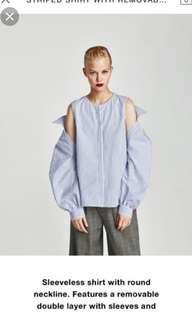 Inc pos Zara two way blouse