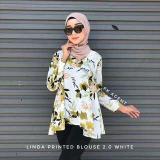 FLORAL BLOUSE PRINTED WHITE