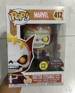 Doctor Strange Ghost Rider GITD funko pop