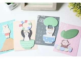 🚚 [In stock] Playful Animal Sticky note/memo/bookmarks