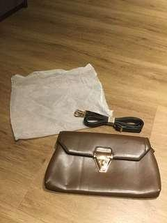brand new brown leather style bag with sling