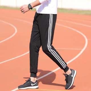黑色間條褲