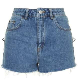 Top Shop MOTO Vintage Mom Shorts Sz 8