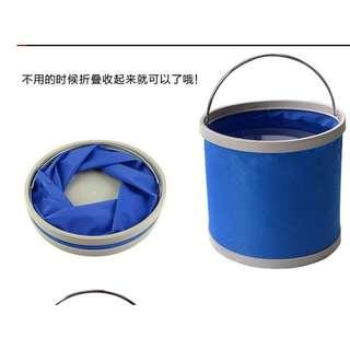 Foldable Pail, Bucket for Car washing , fishing, 11 liters
