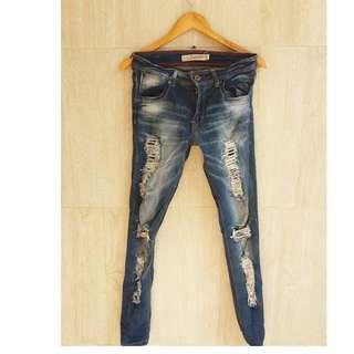 celana jeans fashion denim robek sobek merk o'net
