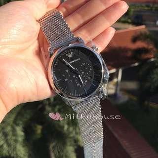 🚚 Emporia Armani Black Dial Chronograph Casual Watch