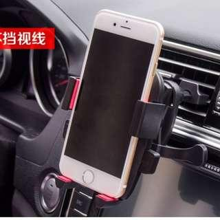 Mobile phone holder in car - Attached to Air con grill , stable and steady