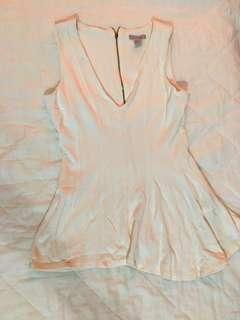 H&M White Sleeveless Blouse