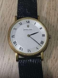 Authentic Vintage Universal Geneve 18k gold ladies watch