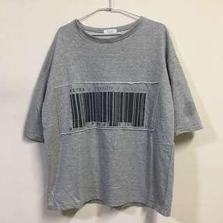 🚚 正韓 條碼寬鬆五分䄂T恤