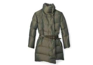 Club Monaco Belted Puffer Downfilled Coat