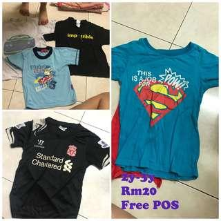 Tshirt boy super man lover pool