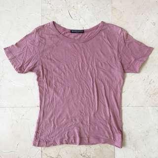 Brandy Melville Basic Blush Top