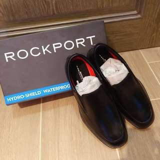 【New】Rockport Essential Details Waterproof Men Black Slip on Shoes (V75100) 男裝防水真皮皮鞋