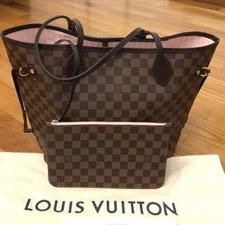 Louis Vuitton Neverfull MM damier rose