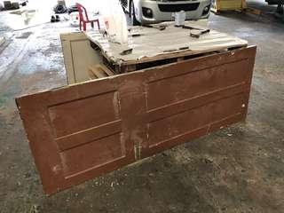 Vintage solid wood door panel
