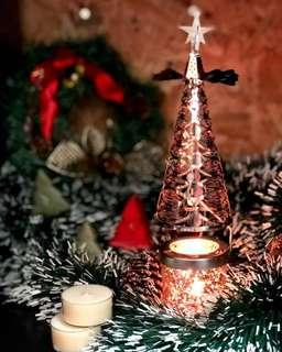 (PO) Spinning Christmas Tree Tealight Gift Set