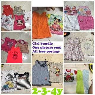 Kids Bundle girl combo dress shirt borong