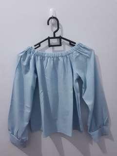 Simple off shoulder blouse