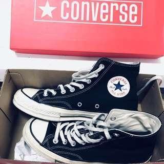 Converse  All Star' 70 專櫃正品 黑色 復古高筒 奶油底 黑標紅盒 142334C