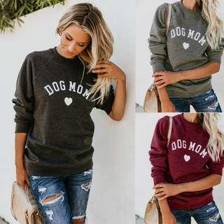 Dog Mom Printed Sweatshirt