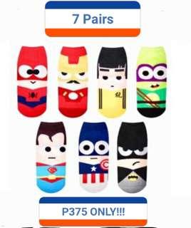 Unisex Korean Iconic Superhero Ankle socks