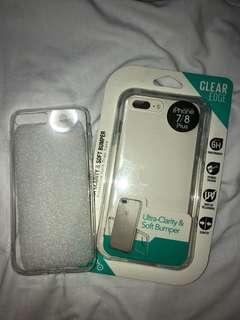 Clear case bundle for iphone 7+/8+