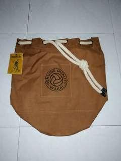 1 x brand new Wakai brown draw string bag with delivery