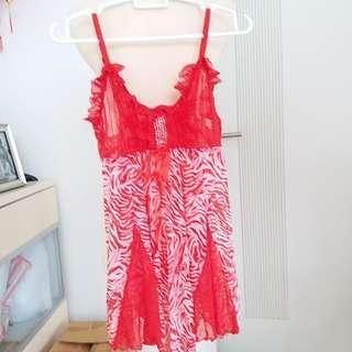 Lingerie red motif BARU