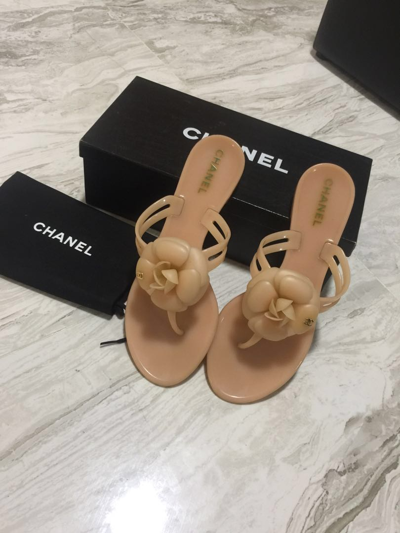 0a85a5a4878b 60% Off Chanel Camellia sandal Size 38 Bought  490