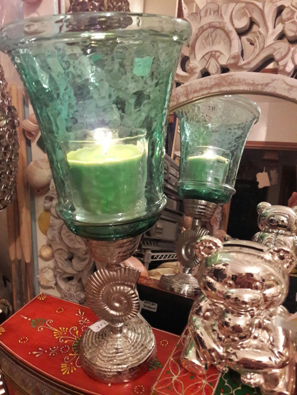 夢*想家 印度風翠绿玻璃蠟燭台