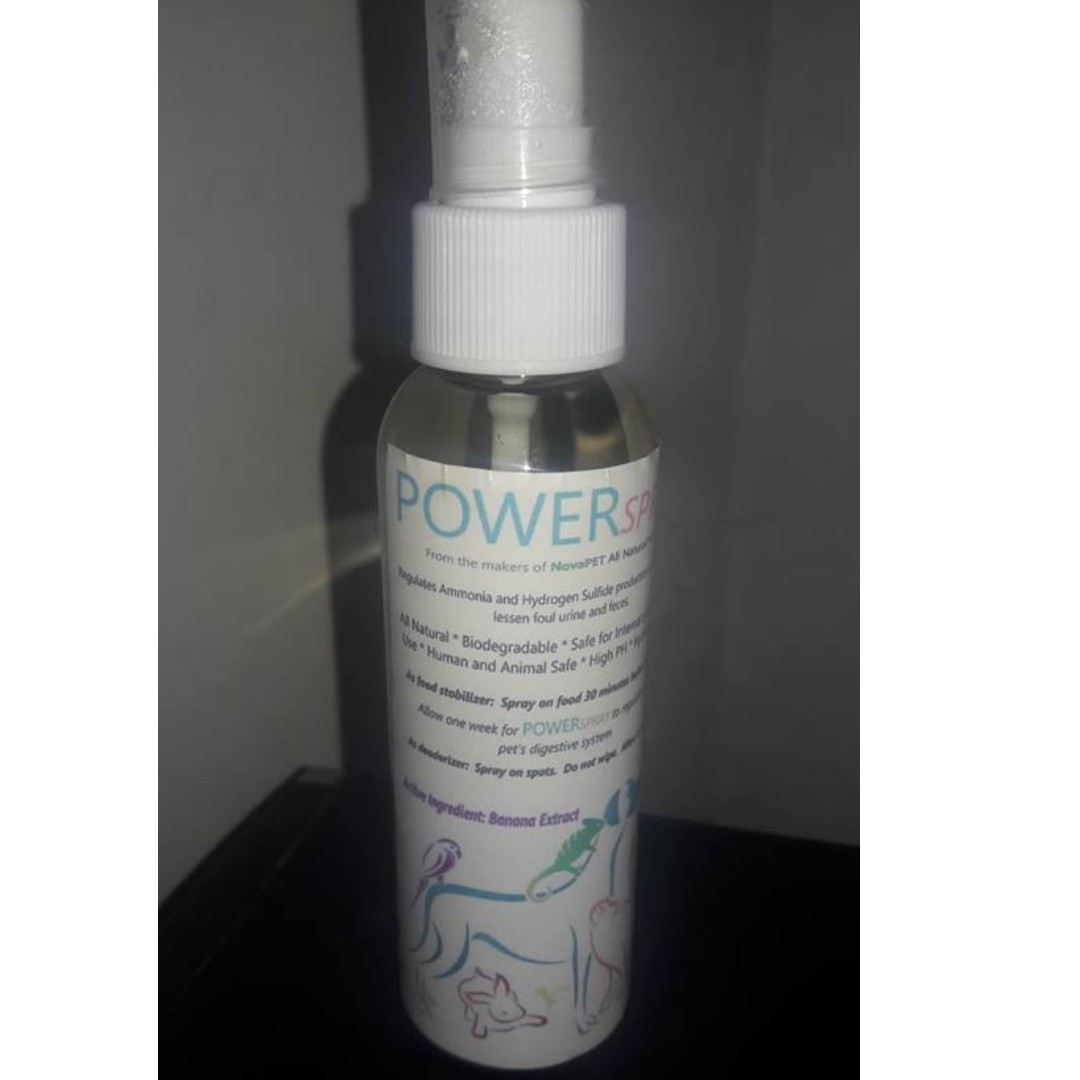 ALL NATURAL AND BIODEGRADABLE FOOD GRADE POWERSPRAY- BAD BREATH AND FOUL  POOP SMELL ELIMINATOR