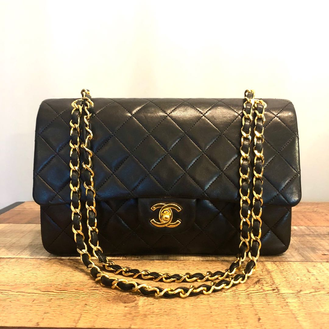 a38a139bc30a Authentic Chanel 10 Inch Classic Flap with 24k Gold Hardware, Luxury ...