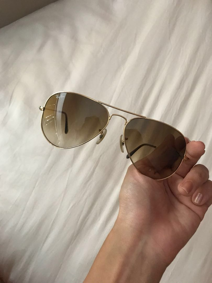 0ea07a3b522 authentic gold frame ray ban aviator sunglasses