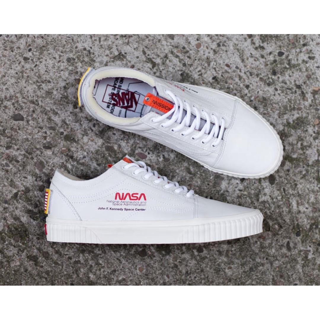 vans x nasa white shoes