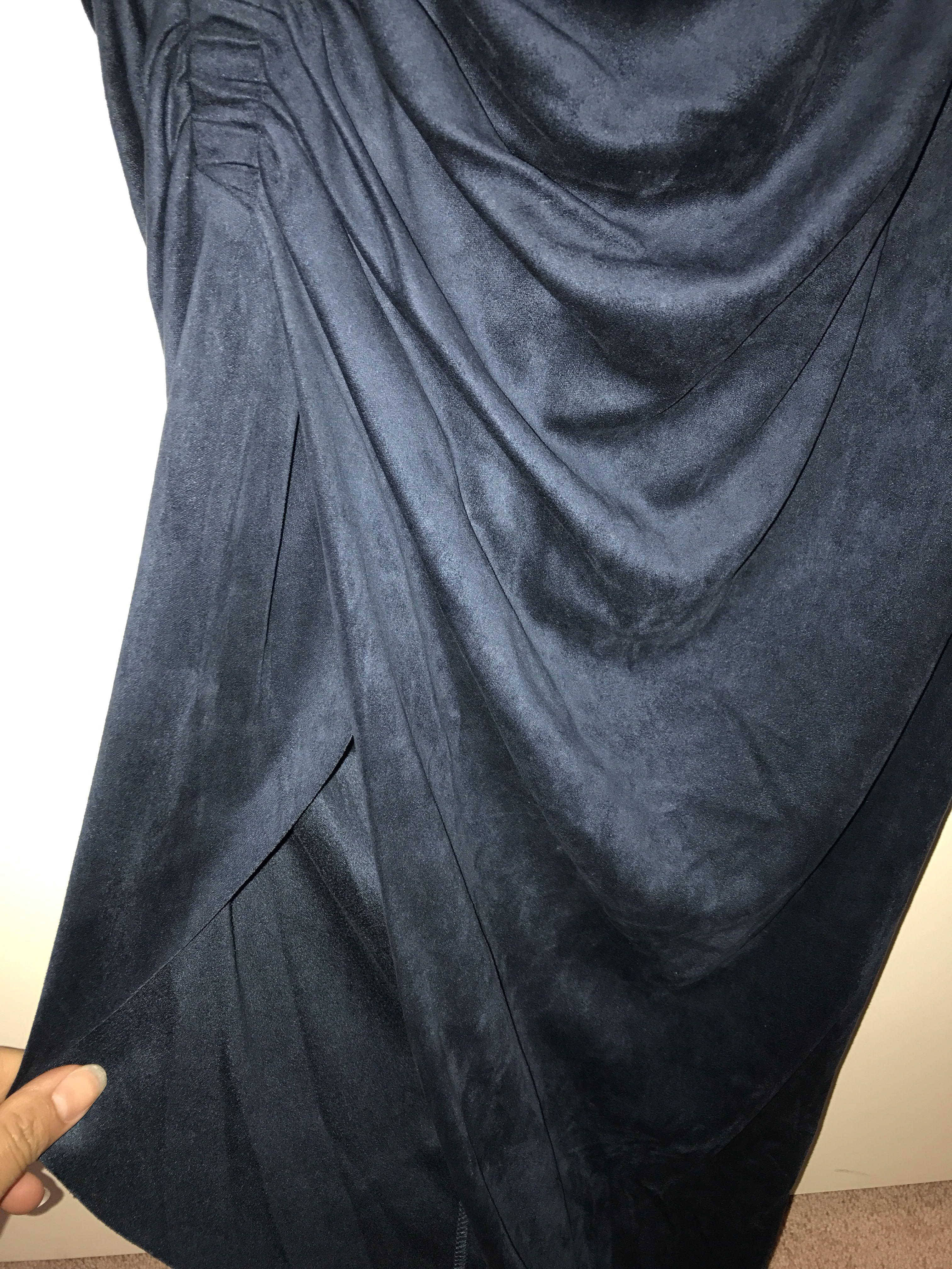 Bardot blue suede skirt