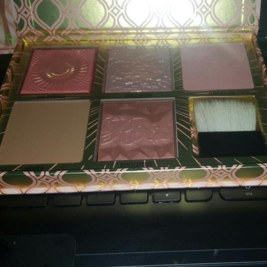 """BENEFIT Blush Bar """"cheeks on pointe"""" bronzer & blush palette Featuring Gold Rush BRAND NEW & AUTHENTIC (NO SWAPS, Price is Firm)"""