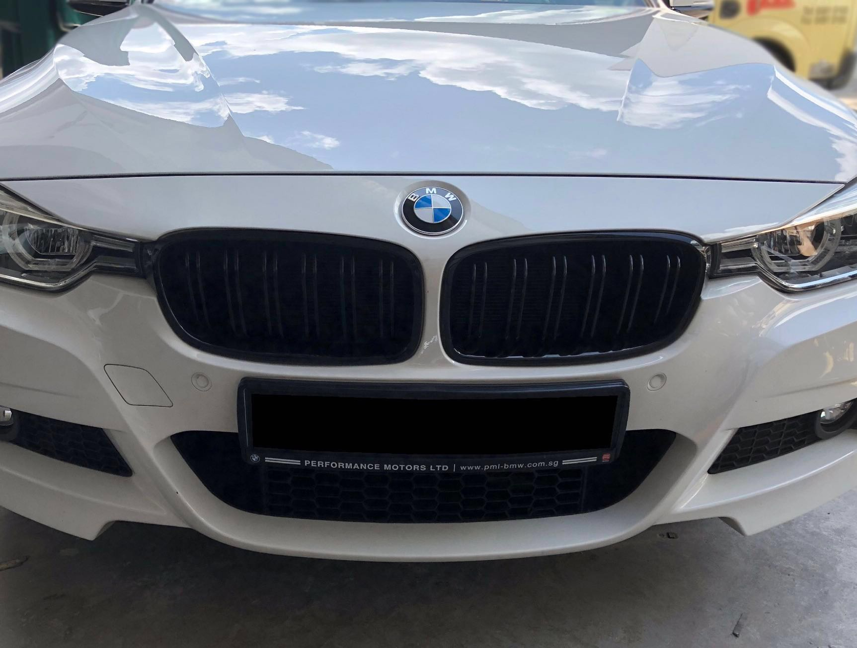 Bmw F30 3 Series F30 Glossy Black Dual Slated Front Kidney Grilles