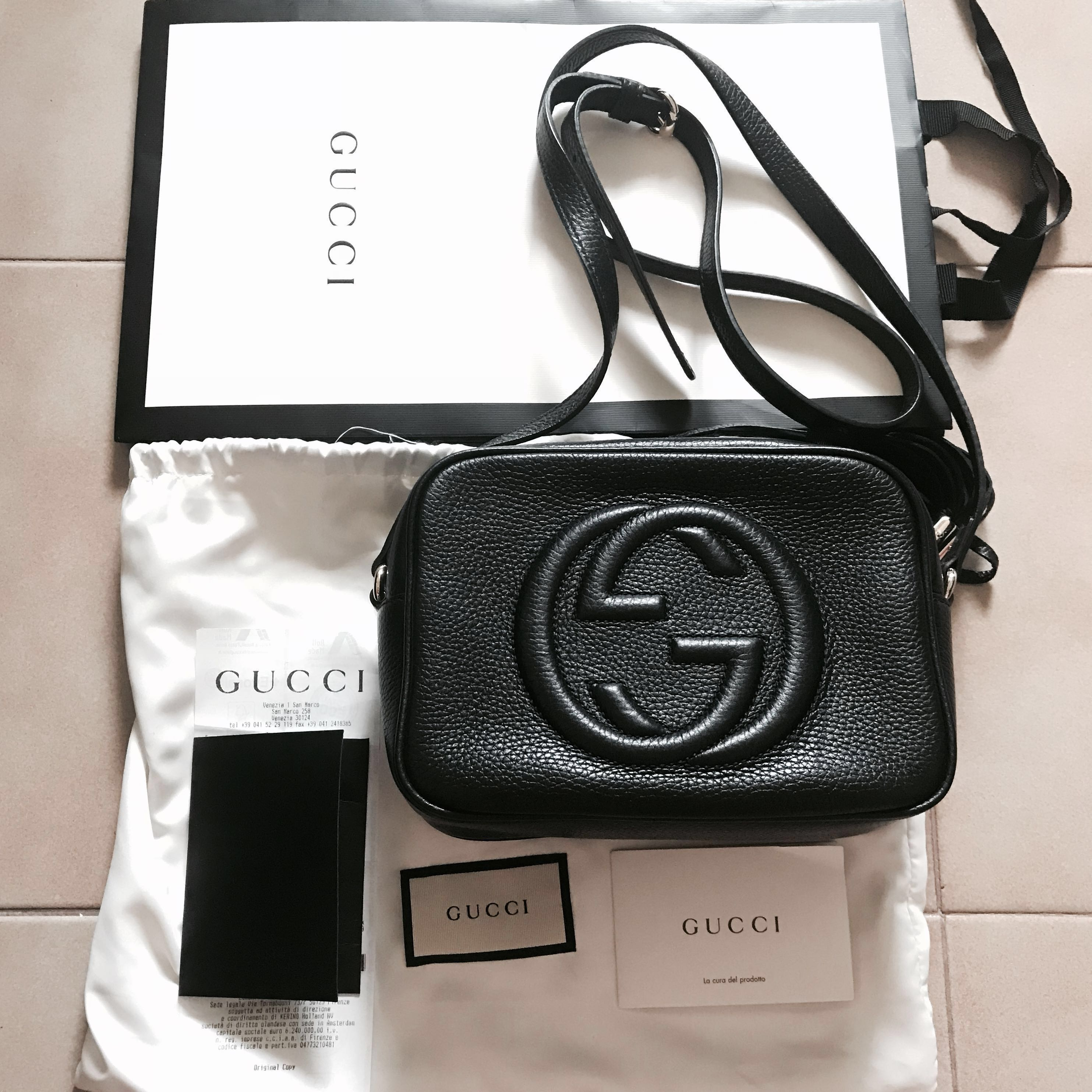 4f2b83de7be5 BN GUCCI soho small leather disco bag, Luxury, Bags & Wallets, Sling Bags  on Carousell
