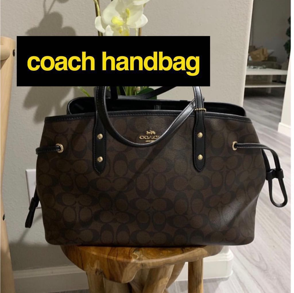 90c5e10e70 BN On-Hand! Authentic Coach Drawstring Carry all Signature Canvas ...