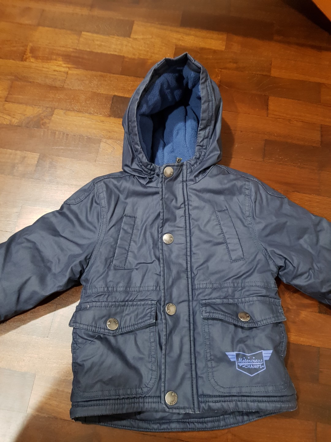 3b2e24d64 Boys toddler Blue pumpkin patch Winter Jacket 12-18 months