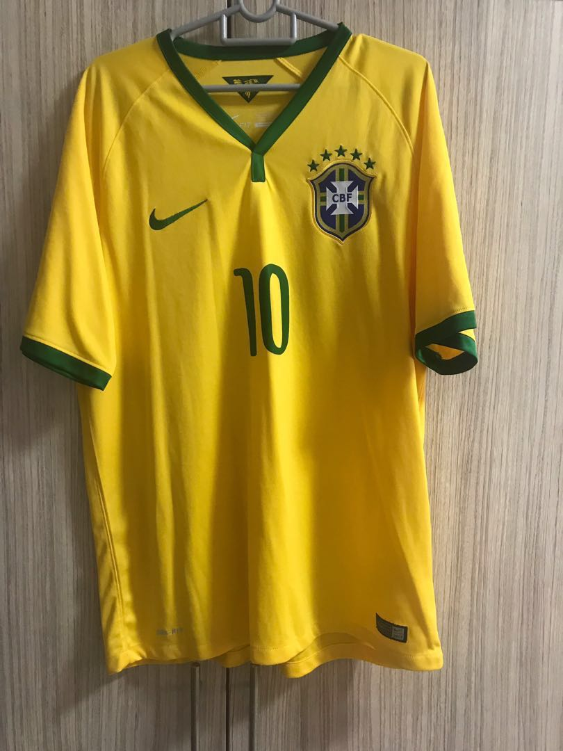 various colors 491f1 c2f2b Brazil Home Jersey printed with Neymar 10