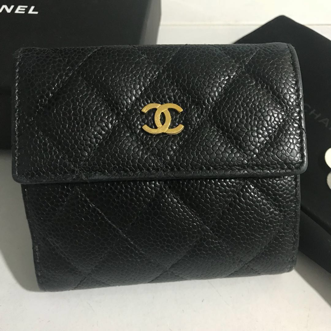 9339454b023a Chanel Classic Small tri fold Wallet, Luxury, Bags & Wallets, Wallets on  Carousell