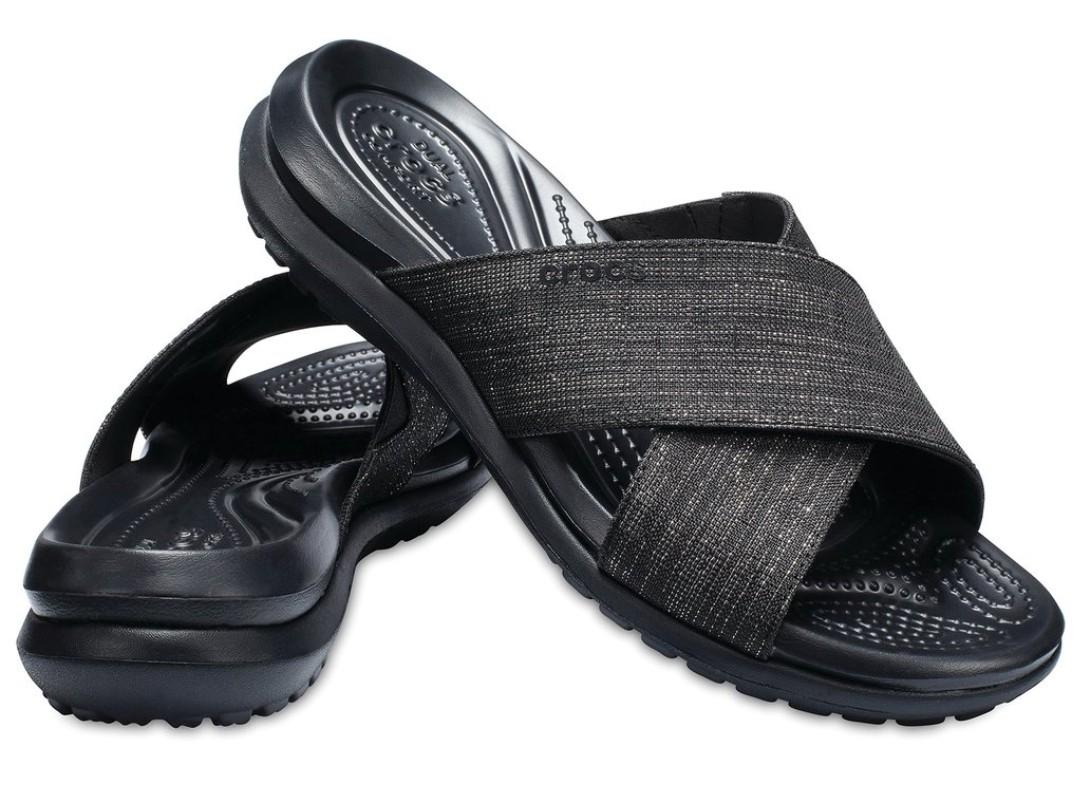 Capri Shimmer Cross-Band Sandals