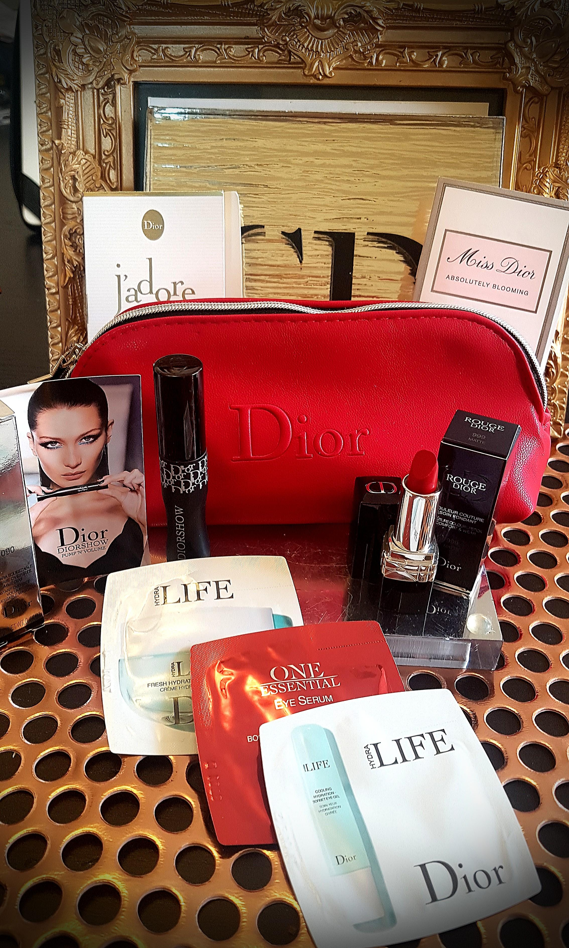DIOR luxury minis red makeupbag