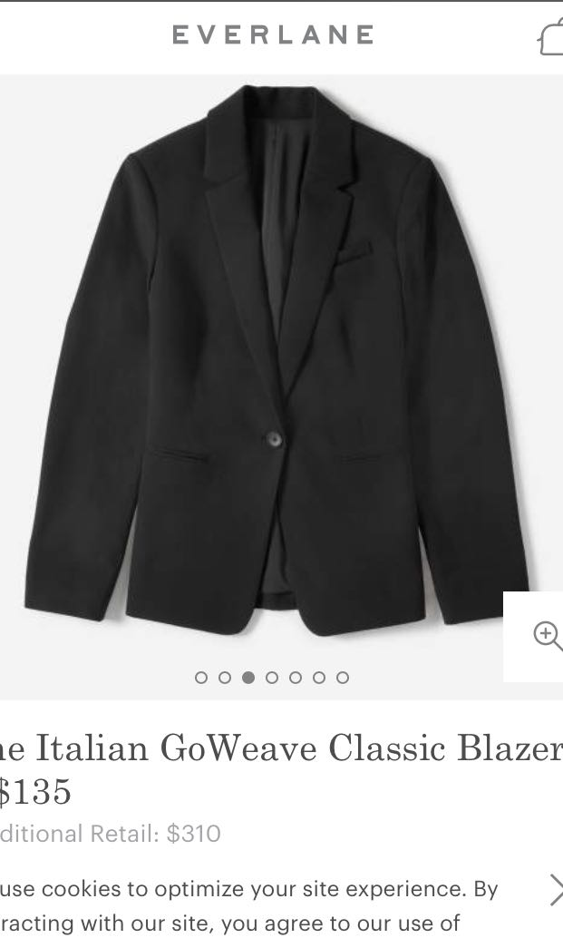 9bfeb56de895 Everlane Italian Goweave Classic Blazer, Women's Fashion, Clothes,  Outerwear on Carousell